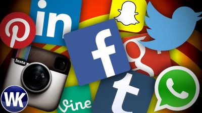 various social media channel